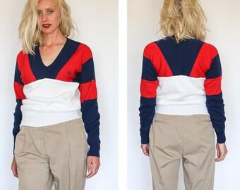 vintage Adidas colorway colorblock sweater s/m
