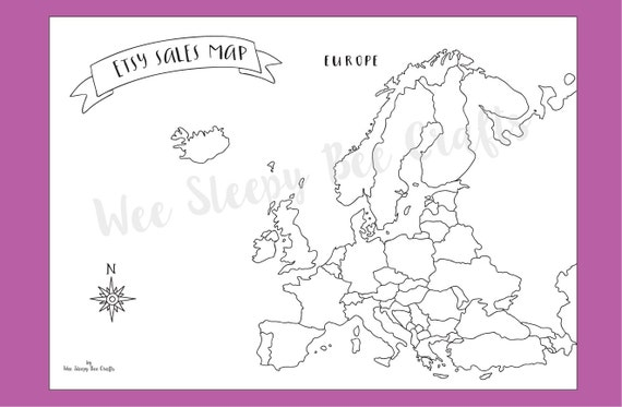 map of europe coloring page