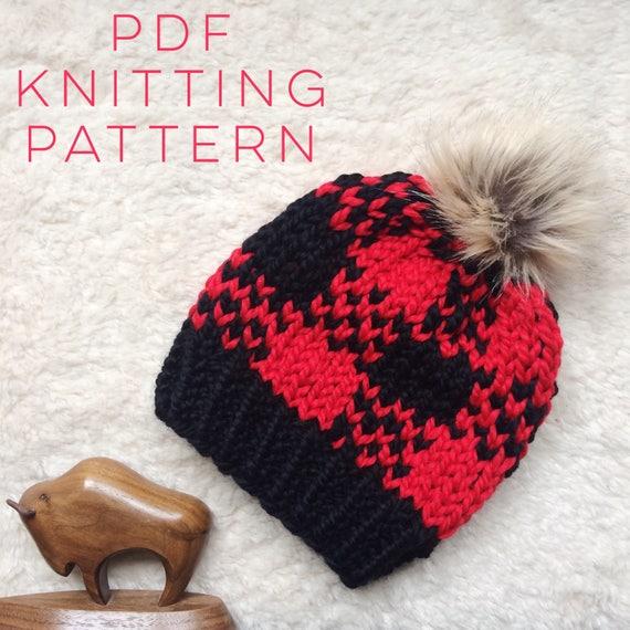 Instant Download Knitting Pattern Unisex Hat Pattern Fair Isle