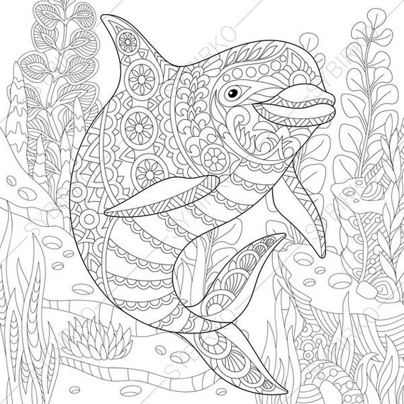 ocean world dolphin 2 coloring pages animal coloring book. Black Bedroom Furniture Sets. Home Design Ideas