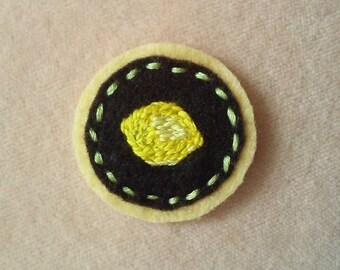 Lemon Badge (Patch, Pin, Brooch, or Magnet)