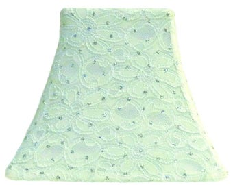 Mint Green Sparkle - SLIP COVERS for lampshades