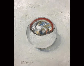 Reflective Ball, 5x7 inches