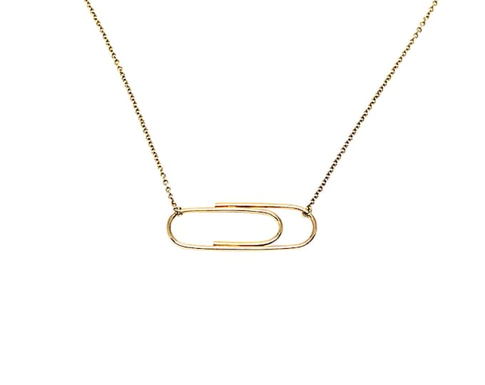 Golden Paperclip Necklace