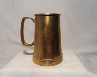 Vintage 1965's Brass Mug - With Dedication