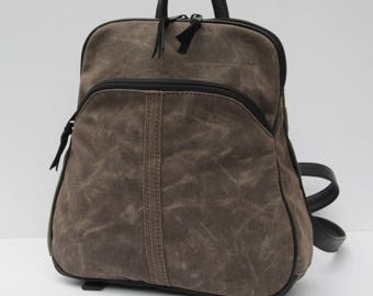 WAXED CANVAS BACKPACK Rugged Beauty by Elizabeth Z Mow