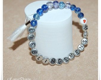 Name Bracelet favorite person wish name wish text favorite name date possible bracelet personalized Birthday Gift