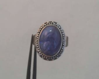 Tazanite ring set in sterling silver - free shipping - size 5 - turningleafjewelryco - December birthstone -