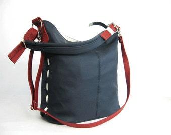 Elegant and casual leather bag. Crossbody. Leather shoulder bag. Handmade. Handbag.