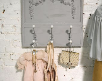 Painted Cottage Prairie Shabby Chic Rose Wall Hook