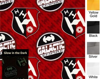 New STAR WARS Galactic Empire Glow in the Dark - Plum Creek Knitting Project Bag - Choice of 2 Sizes (1211)