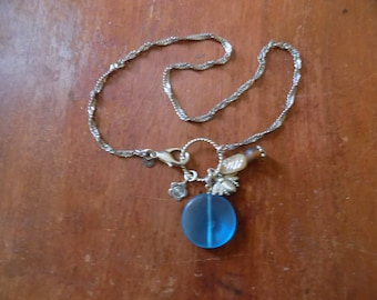 Recycled Necklace, Handmade