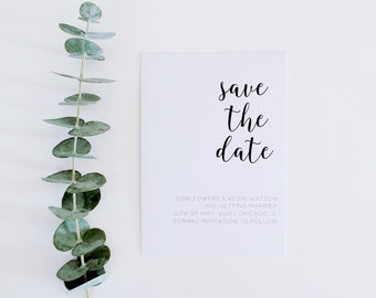 Rose Save the Date Card | Wedding Save the Date Card | Recycled Save the Date Card | A6 Card & Envelope | Rose Collection