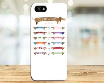 Dachshund Dress Up - Colorful - Wiener Dogs - Brown Doxie Dog Phone Case