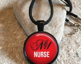 No 1 Nurse Saying Necklace Pendant