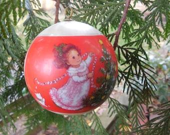 Hallmark Christmas Ornament Vintage Tree Trimmer Collection 1980 Granddaughter Ornament Satin
