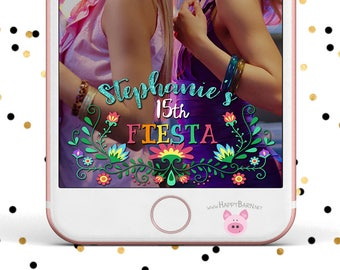 Snapchat GeoFilter, Bachelorette Party Geofilter, Floral Fiesta Snapchat Filter, Flowers, Vines, Fiesta Geofilter, Birthday Party Snapchat