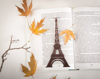 Metal Book Bookmark Eiffel tower // Paris love // a tribute to a symbol of Paris // unique present // Free shipping worldwide