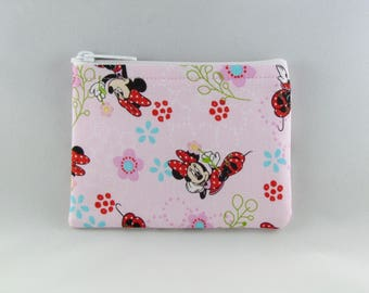 Minnie Loves Flowers Coin Purse - Coin Bag - Pouch - Accessory - Gift Card Holder