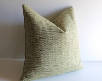 Moss Green Woven Pillow Cover / 14x36 Pillow / 28x28 Pillow / Boho Floor pillow / Blue Green Pillow / Woven Lime Pillow Cover