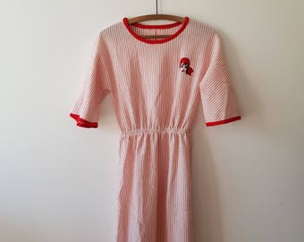 Dress / women / Vintage / Pirate / stripe / red / white