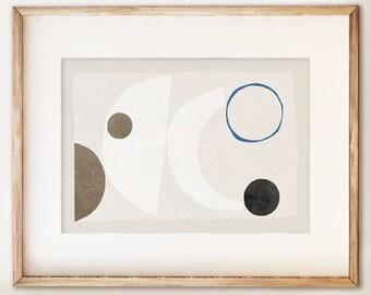 Abstract art print no.9. Living room art. Modern wall art. Art under 50. UK art print. Neutral palette. Art for interiors. Interior design.