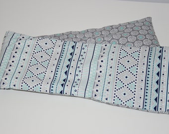 Large heating pad 62 x 13 cm - special - lavender and organic flax seed neck / shoulder / back - 00690