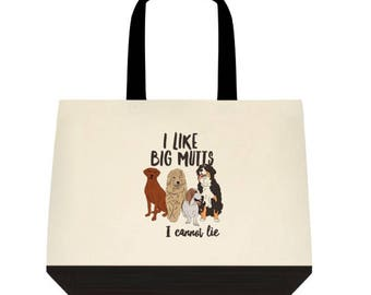 BIG MUTTS Cotton Tote  |  dog lover | Basset, vizsla, doodle, Bernese