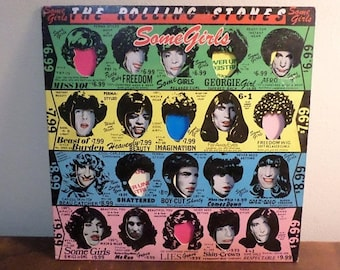 Vintage 1978 LP Record The Rolling Stones Some Girls Rolling Stone Records Very Good Condition 15558
