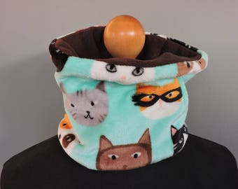 snood soft fleece and funny cats child