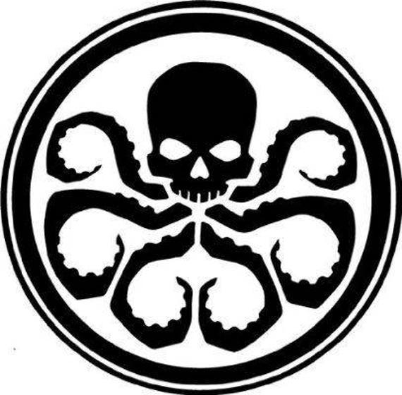 Hail hydra marvel comics decal