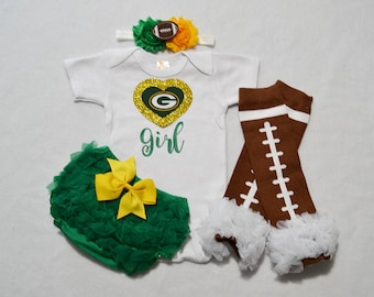 Green Bay Packers Baby Girl Outfit Baby Girl Packers Outfit