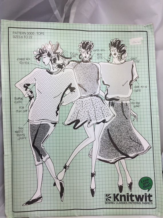 Two Knitwit Complete & Unused Patterns for ladies clothes