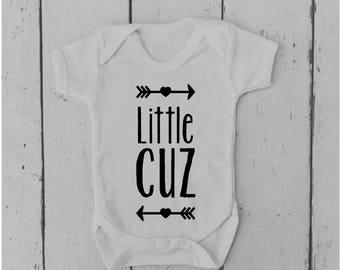 Little Cuz | Baby Vest | Bodysuit | Body Suit | Baby Grow | Baby Clothing | Onesie | Baby Boy | Baby Girl | Gift | Baby Shower | Cousin
