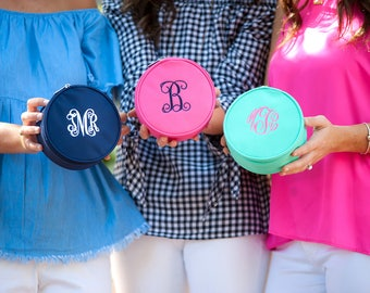 Monogrammed Jewelry Organizer, Monogram Jewelry Case Monogram Jewelry Travel Case Budget Monogram Gifts Budget Bridesmaids Gifts Embroidered