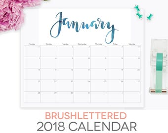free printable calendar 2018 by month