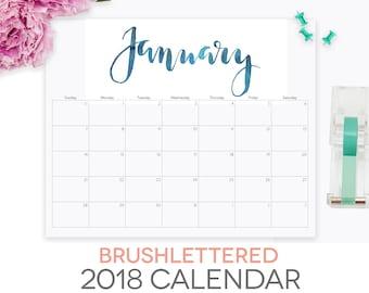 editable 2018 calendar template