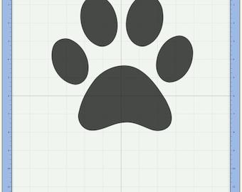 Puppy dog paw print Cutting file. SVG & Scut3 file formats included. Sizzix / Cricut / eCal / Sure-Cuts-a-Lot