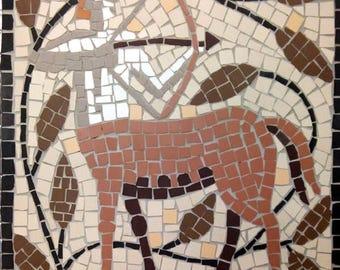 Star sign mosaic - Sagittarius