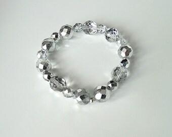 Shimmering Handmade Crystal Stretch Bracelet