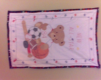 New Allstar Hand embroidered Baby Quilt