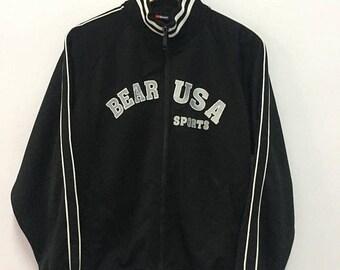 SALE 25% Vintage 90s Bear USA Jacket Size M
