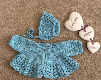 Preemie cardigan set