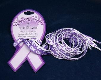 Purple Ribbon Shoe Laces (RE-SHOE-4)
