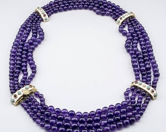 Seerle Amethyst Beaded Necklace