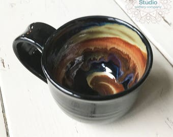 Ceramic Coffee Mug in Handmade, Pottery Mug, Pottery Gift, Gift for Coffee Lover,