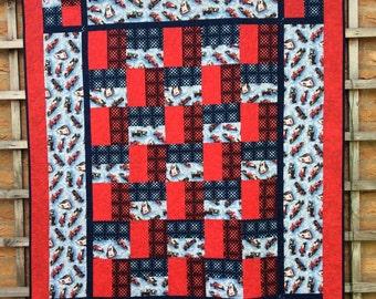 Red Car Quilt. Sports Quilt.Star Quilt. Racing Car Quilt. Boys Bedding. Handmade.Modern.Gift.Home Decor.Patchwork Quilt.Blue Quilt.