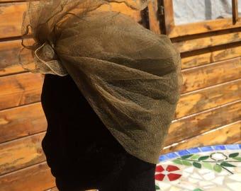 Original Vintage 1960s Faun Chiffon Headscarf