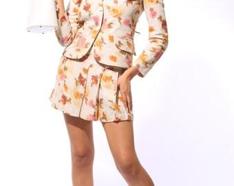 Beverlyl Two-piece Linen Skirt Suit Set