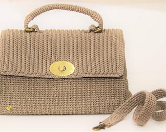Handbag in beige cord
